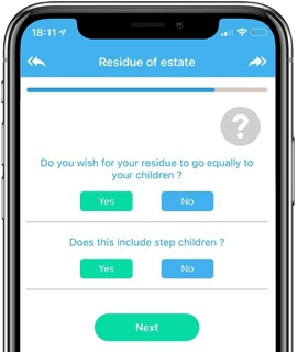 Residue of estate app